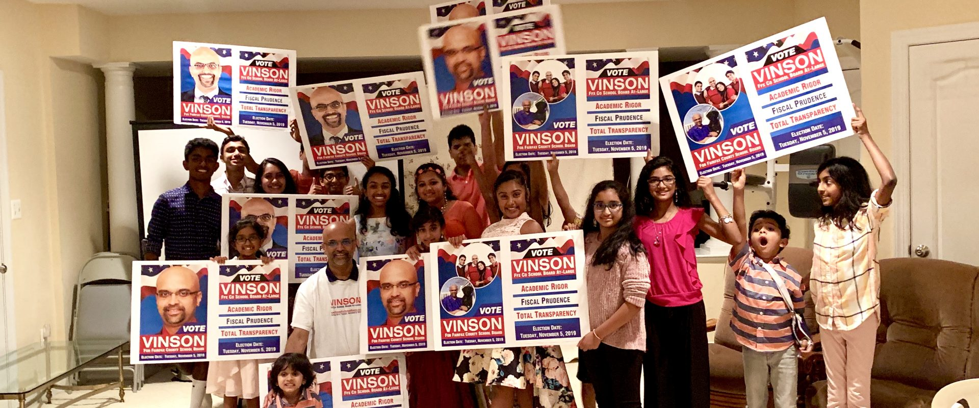 Vienna meeting for vinson for school board election 2019